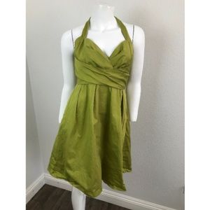 Alfred Angelo Sz 2 Dress Cotton Green Apple Halter
